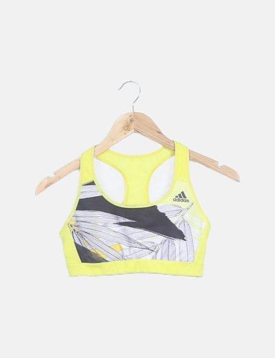 Top deportivo amarillo flúor
