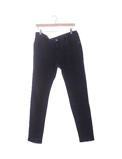 Jeans denim pitillo negro