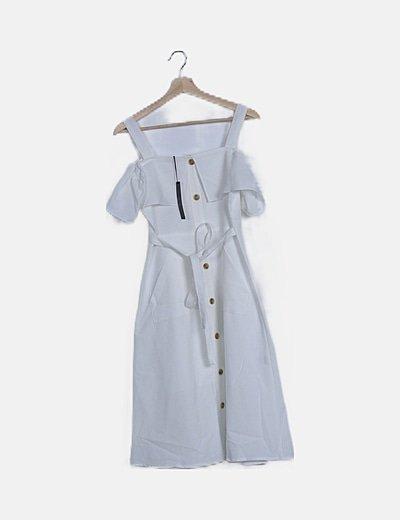 Vestido abotonado blanco