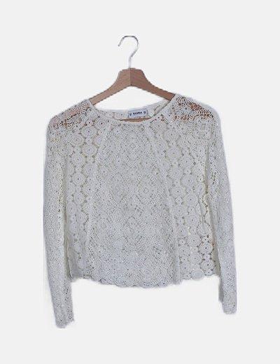 Blusa crochet blanca