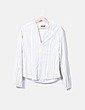 Camisa blanca raya verde Massimo Dutti