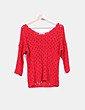 Top tricot rojo Stradivarius