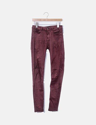 Jeans denim granate