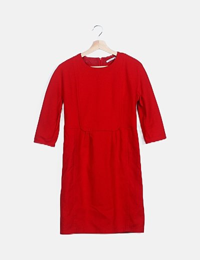 Vestido rojo manga francesa