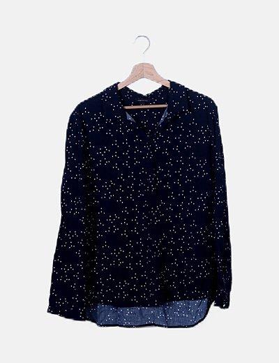 Camisa azul marino estampado estrellas