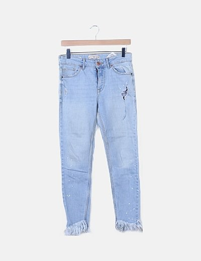 Jeans ripped desflecado