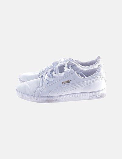 Zapatillas deportivas blancas charol
