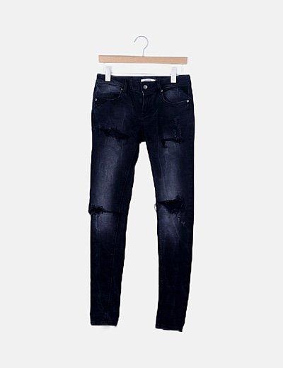 Jeans denim gris marengo