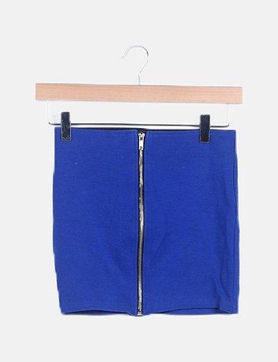 Vestido mini azul electrico