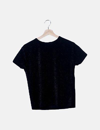 Conjunto pantalón y camiseta negra con glitter