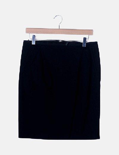 Falda midi básica negra