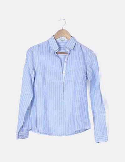 Camisa azul raya diplomática