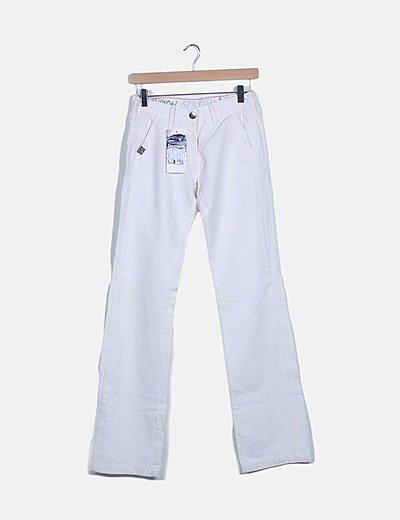 Pantalon denim blanco