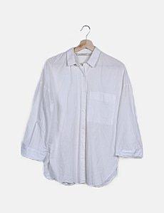 Zara Camisa blanca manga larga con gemelos (descuento 70