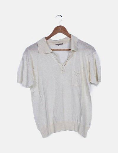 Camiseta tricot beige fluida