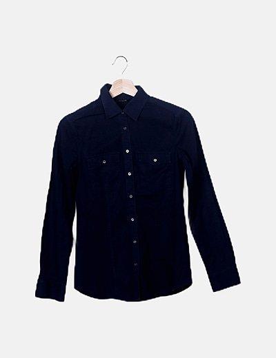 Camisa denim azul marino