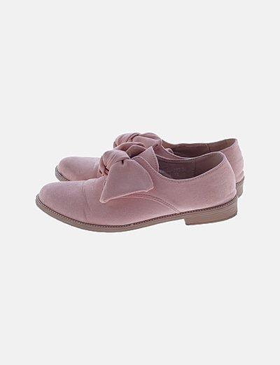 Zapato plano nude detalle lace up