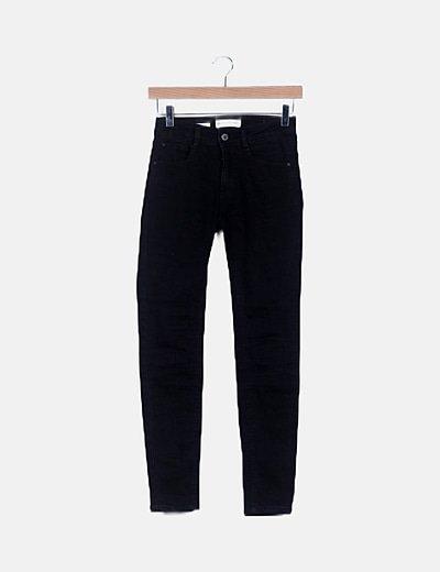 Jeans negro low waist