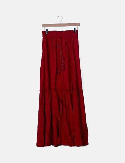 Falda maxi roja