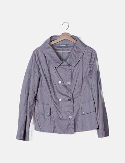 Conjunto de falda y chaqueta gris