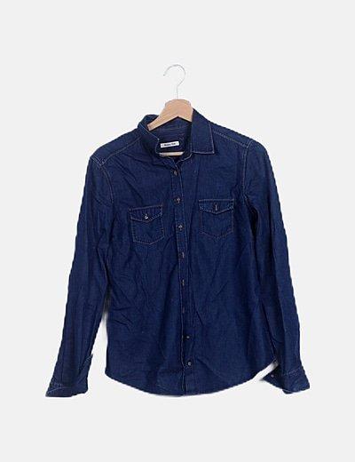 Camisa denim azul oscuro