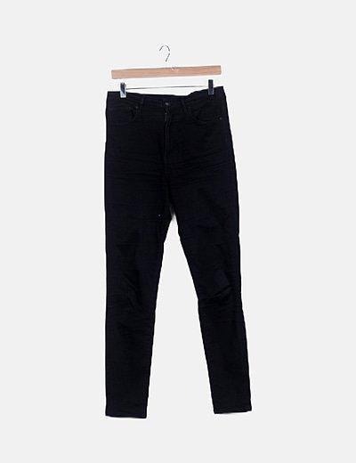 Jeans denim negro tiro alto