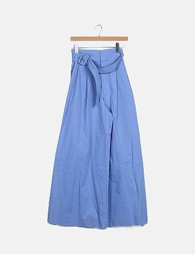 Pantalón azul palazzo