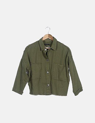 Camisa verde desflecada