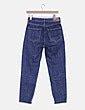 Pantalón denim recto azul Mango