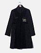Abrigo texturizado glitter negro Desigual