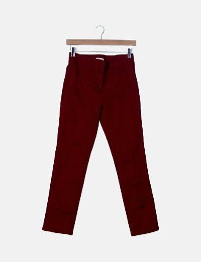 Pantalón rojo de vestir