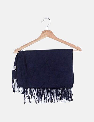 Foulard azul marino con flecos