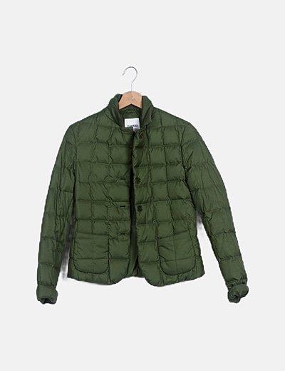 Abrigo plumas verde
