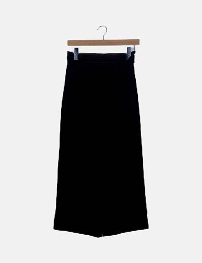 Pantalón paperbag negro