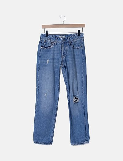 Jeans denim straight fit