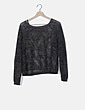 Jersey negro trenzado detalle glitter Zara