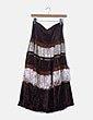 Falda marrón texturizada print floral Oil