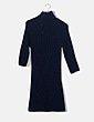 Vestido tricot azul cuello alto Zara