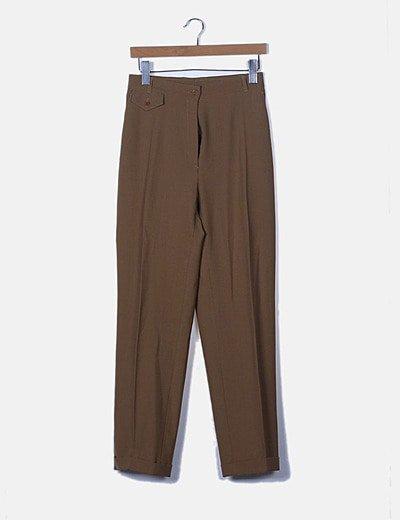Pantalón chino marrón de pinza