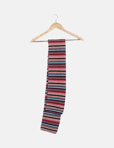 Bufanda lana rayas multicolor