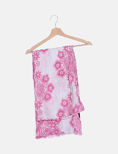 Pañuelo rosa floral