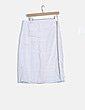 Falda midi blanca raya lateral Mango