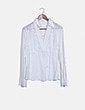 Blusa blanca bordados florales Massimo Dutti