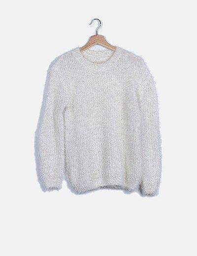 Jersey blanco pelo sintético