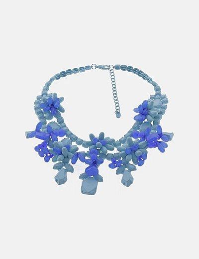Gargantilla floral azul