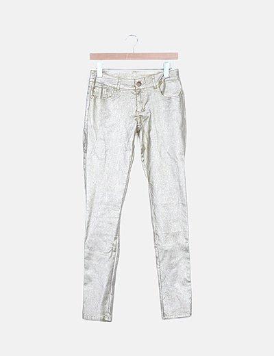 Jeans denim dorado