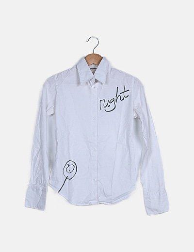 Camisa blanca print Right