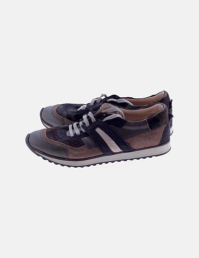Zapatillas deportivas combinadas khaki
