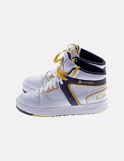 Zapatillas deportivas botín doble cordon