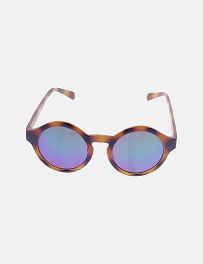 Gafas de sol montura carey cristal espejo